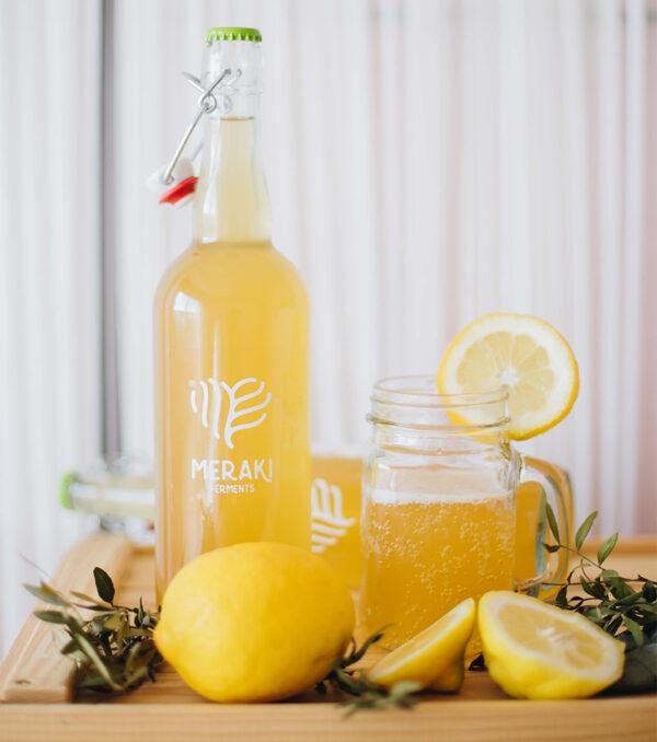 Meraki Ferments bebida kombucha sabor panela y limón