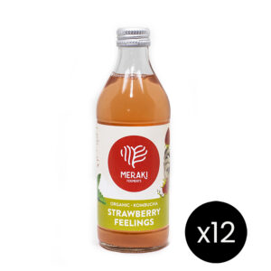 Meraki Ferments bebida kombucha sabor strawberry feelingss
